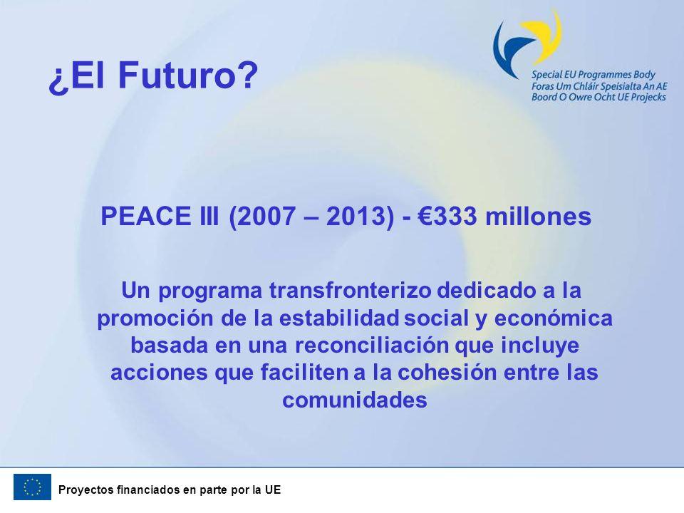 PEACE III (2007 – 2013) - €333 millones