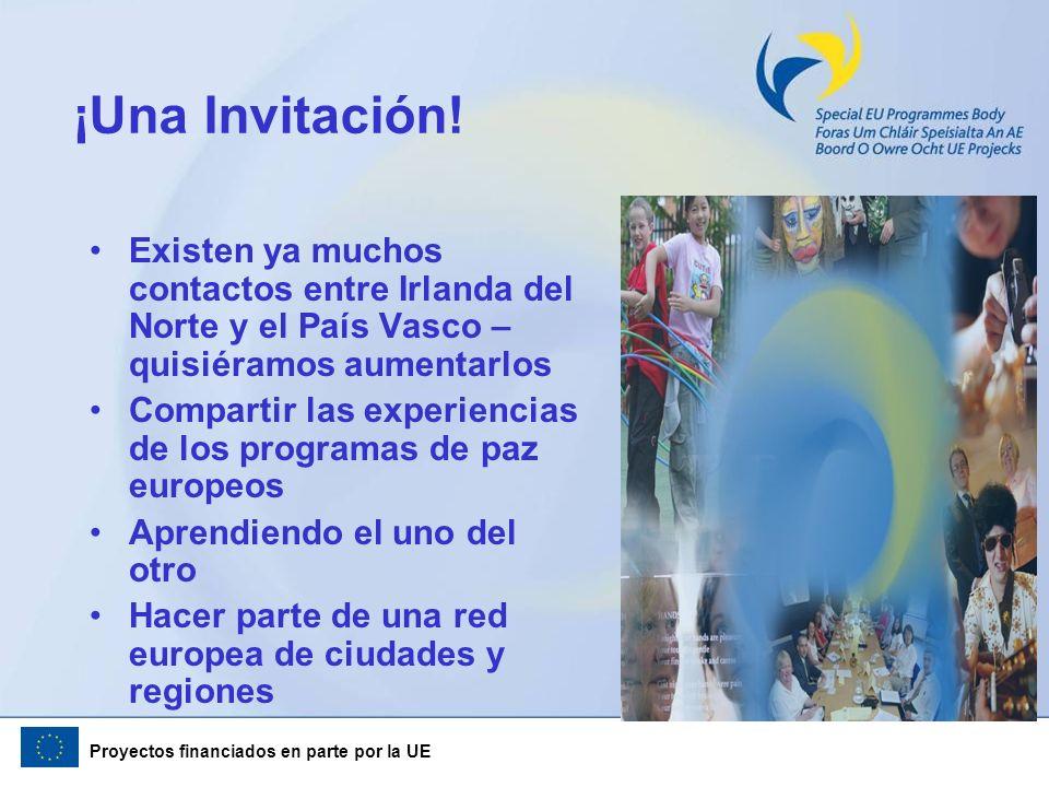 ¡Una Invitación! Existen ya muchos contactos entre Irlanda del Norte y el País Vasco – quisiéramos aumentarlos.