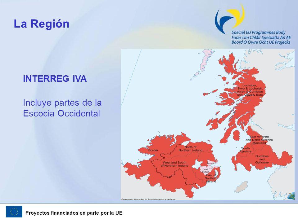 La Región INTERREG IVA Incluye partes de la Escocia Occidental