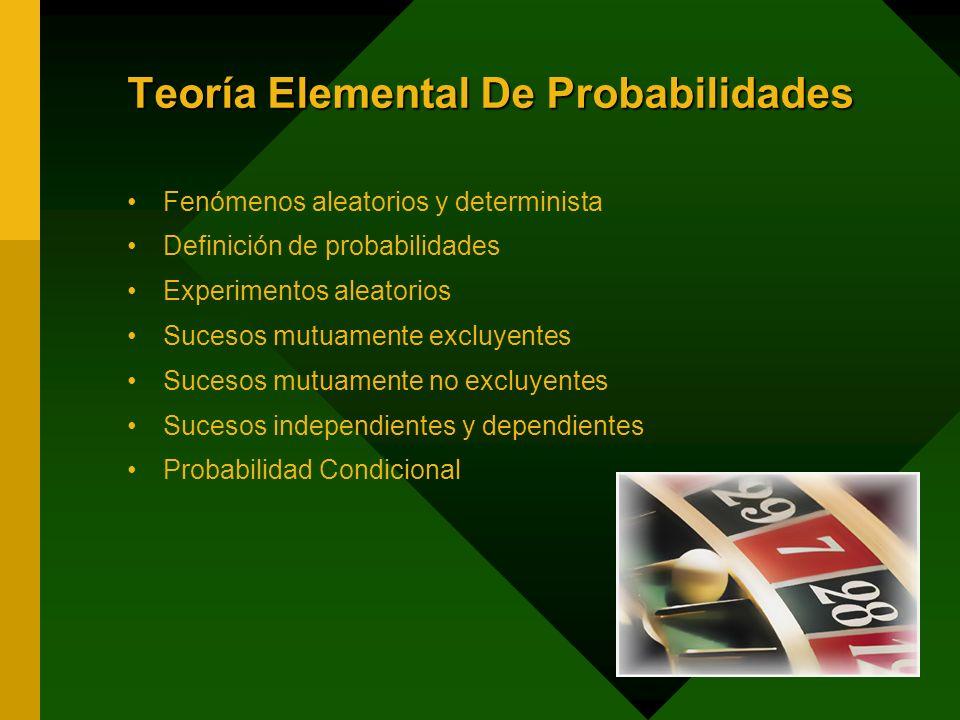 Teoría Elemental De Probabilidades