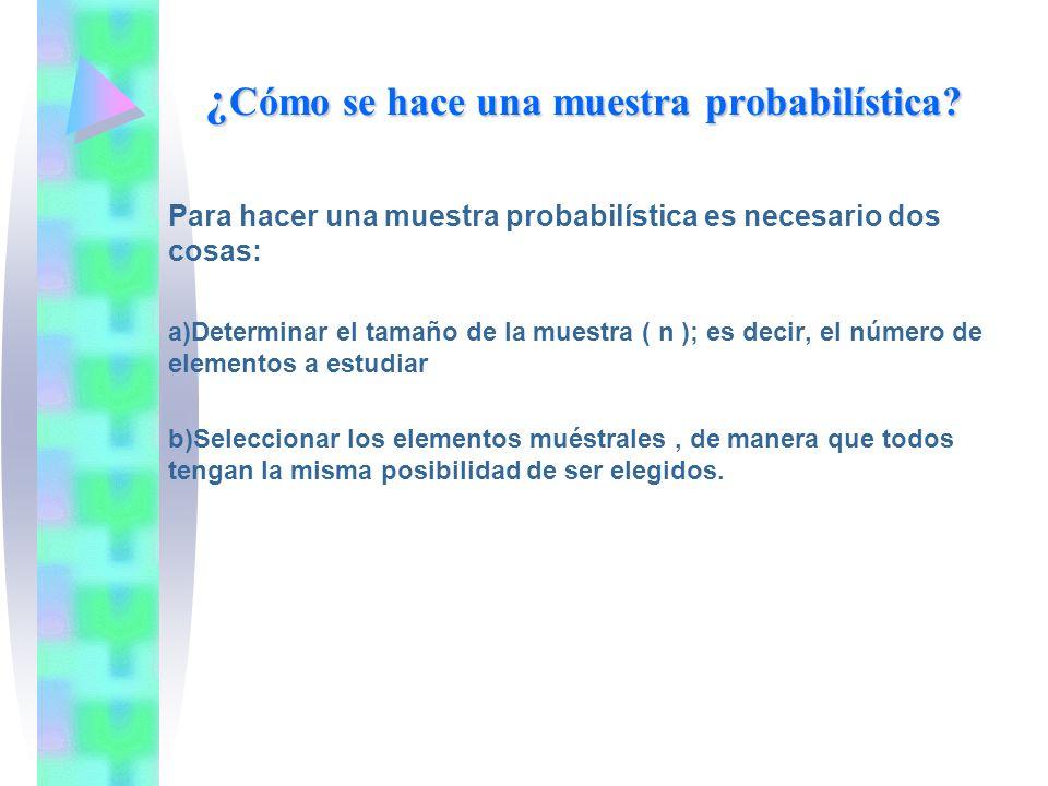 ¿Cómo se hace una muestra probabilística