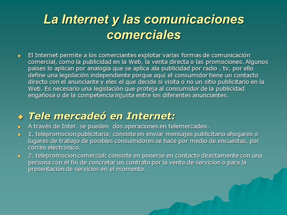 La Internet y las comunicaciones comerciales
