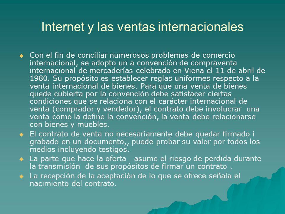 Internet y las ventas internacionales