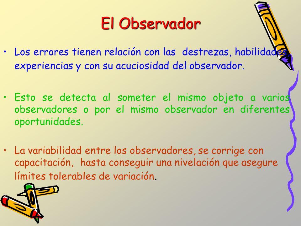 El Observador Los errores tienen relación con las destrezas, habilidades, experiencias y con su acuciosidad del observador.