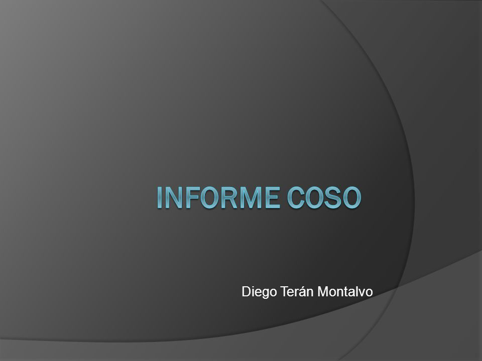 Informe COSO Diego Terán Montalvo