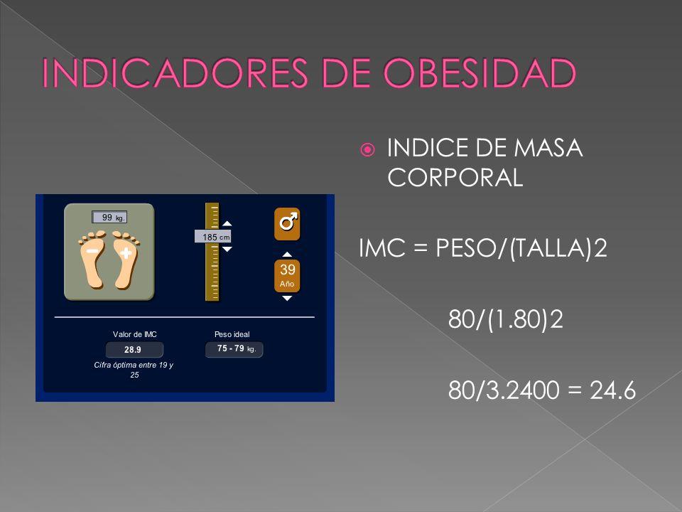 INDICADORES DE OBESIDAD