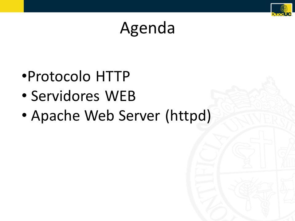 Agenda Protocolo HTTP Servidores WEB Apache Web Server (httpd)