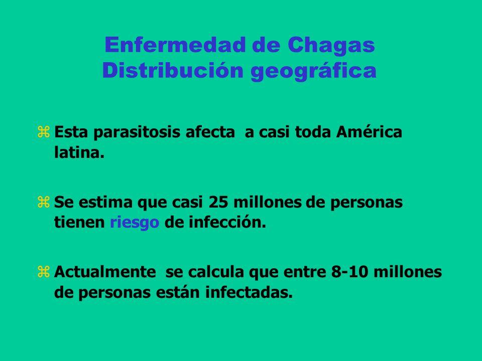 Enfermedad de Chagas Distribución geográfica