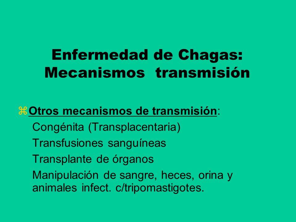 Enfermedad de Chagas: Mecanismos transmisión