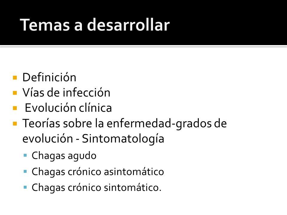 Temas a desarrollar Definición Vías de infección Evolución clínica