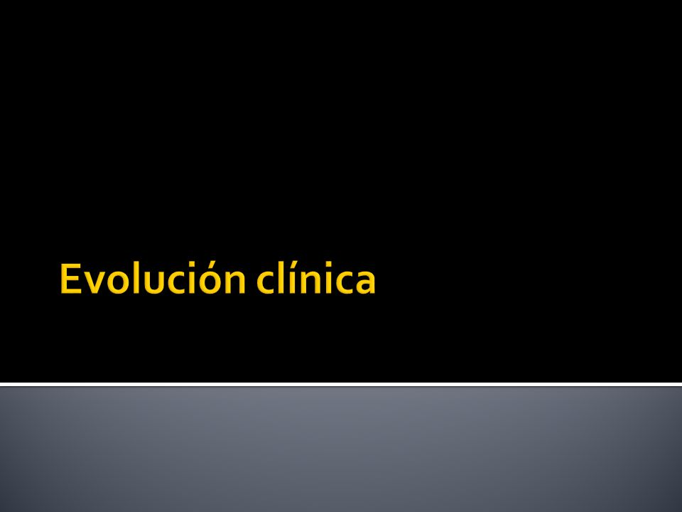 Evolución clínica