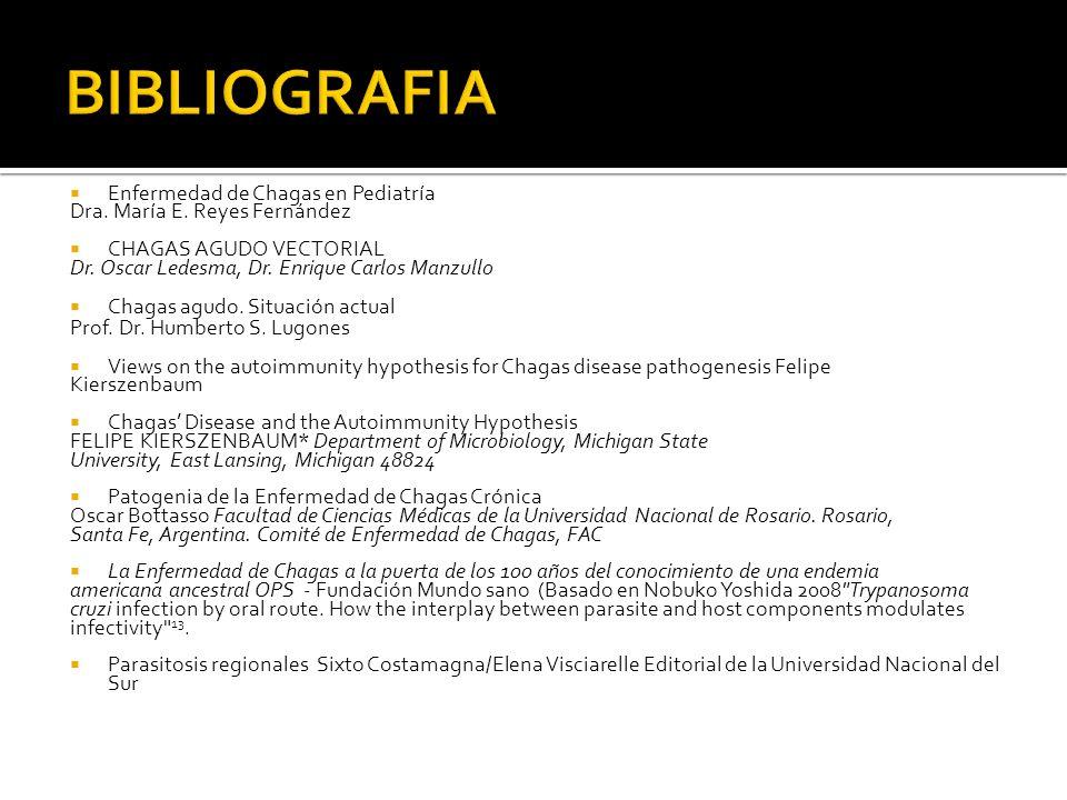 BIBLIOGRAFIA Enfermedad de Chagas en Pediatría