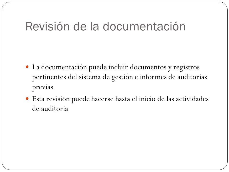 Revisión de la documentación