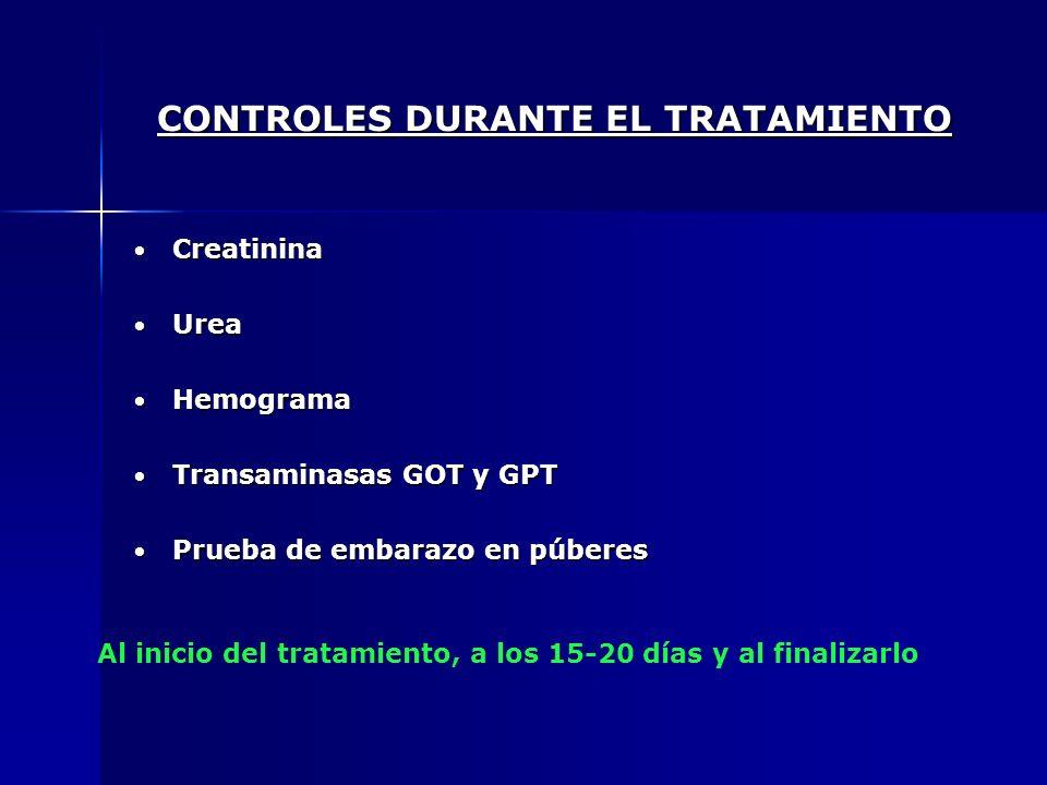 CONTROLES DURANTE EL TRATAMIENTO