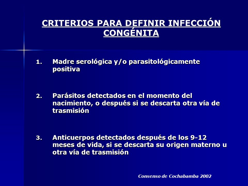 CRITERIOS PARA DEFINIR INFECCIÓN CONGÉNITA