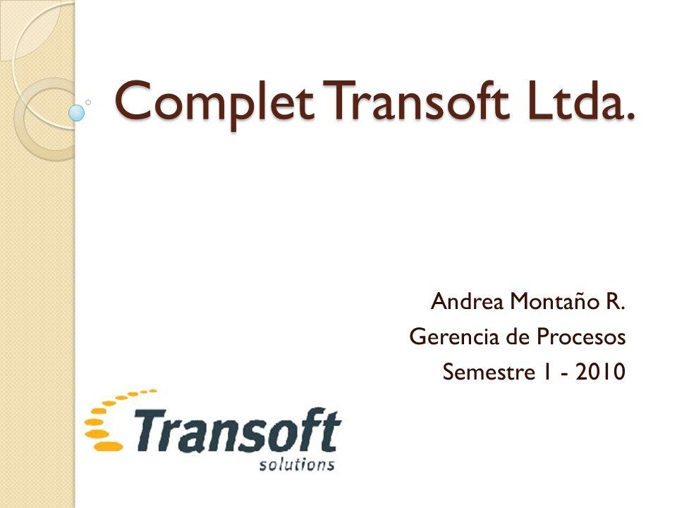 Andrea Montaño R. Gerencia de Procesos Semestre 1 - 2010