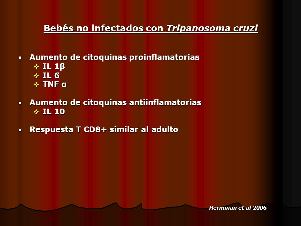 Bebés no infectados con Tripanosoma cruzi