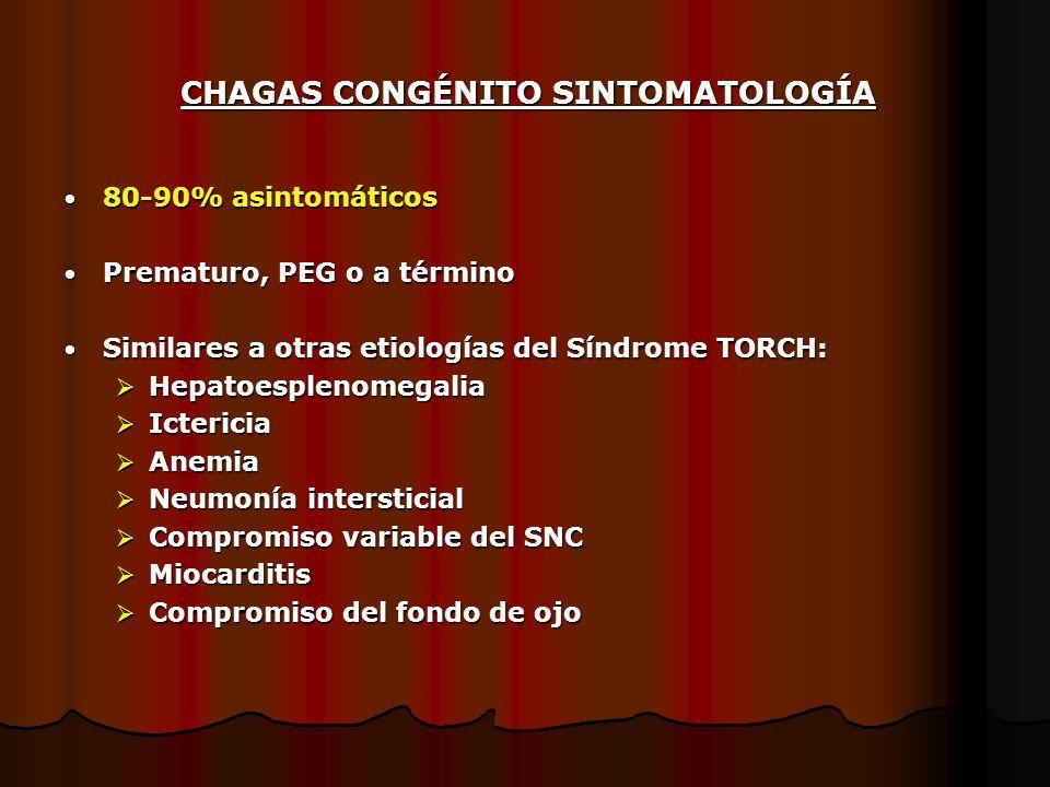 CHAGAS CONGÉNITO SINTOMATOLOGÍA