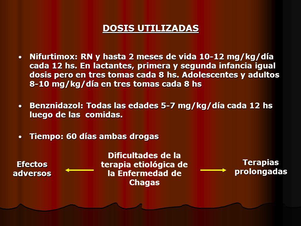 Dificultades de la terapia etiológica de la Enfermedad de Chagas