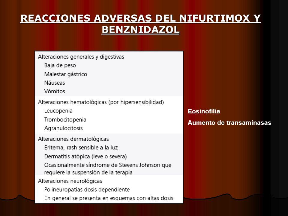 REACCIONES ADVERSAS DEL NIFURTIMOX Y BENZNIDAZOL