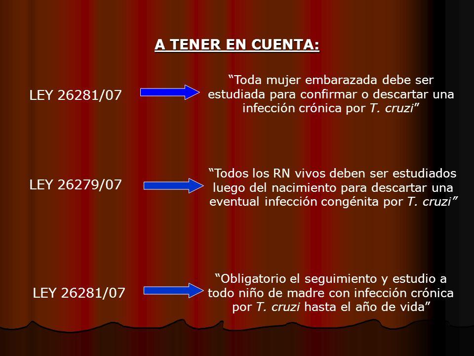 A TENER EN CUENTA: LEY 26281/07 LEY 26279/07 LEY 26281/07