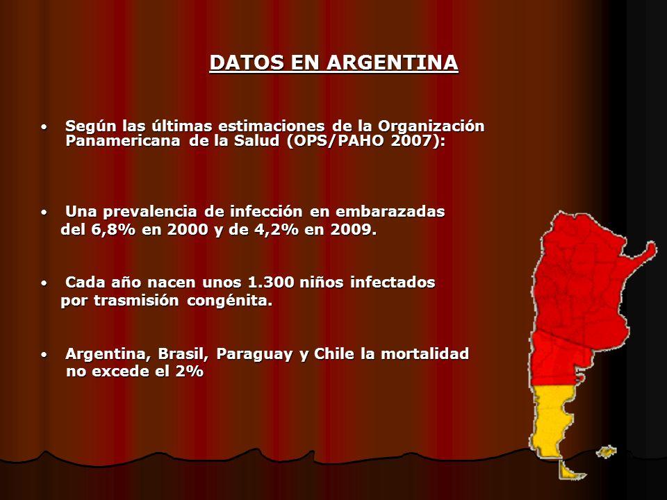 DATOS EN ARGENTINA Según las últimas estimaciones de la Organización Panamericana de la Salud (OPS/PAHO 2007):