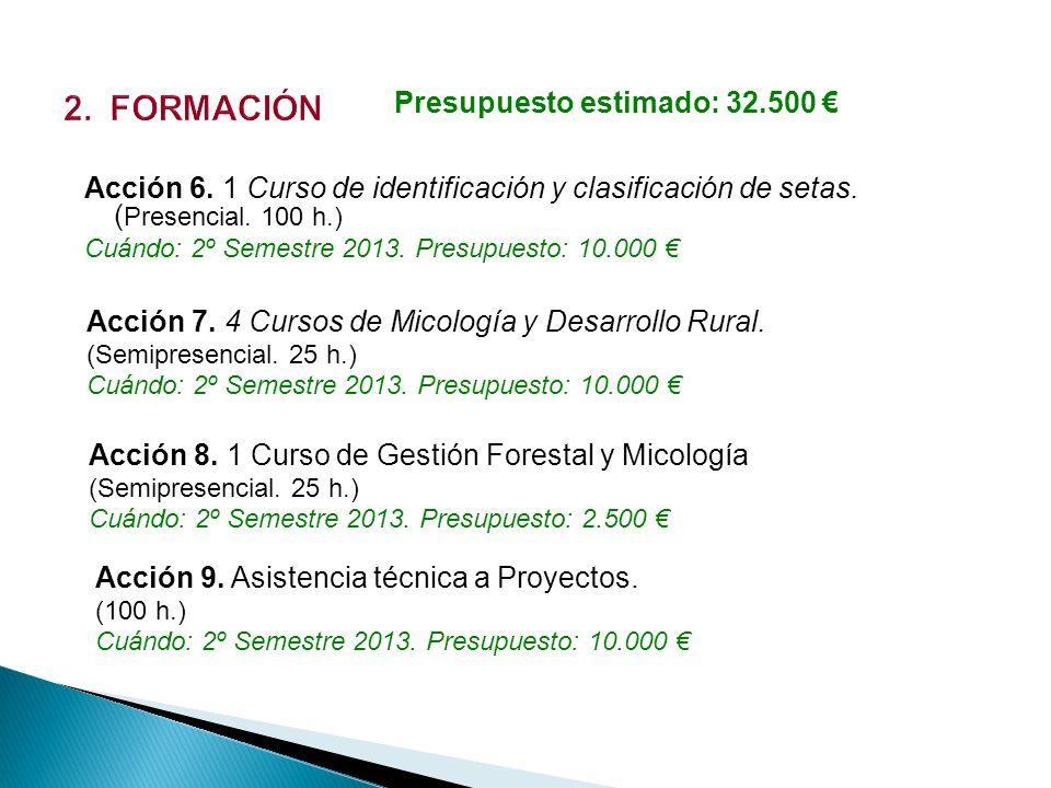 2. FORMACIÓN Presupuesto estimado: 32.500 €