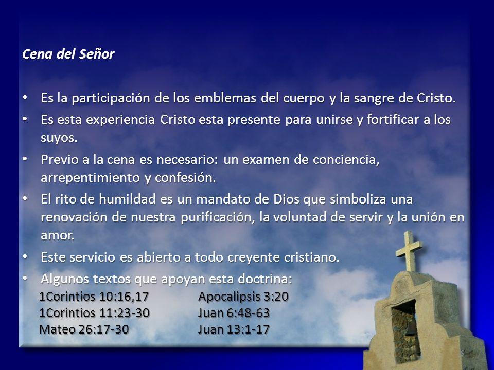 Es la participación de los emblemas del cuerpo y la sangre de Cristo.