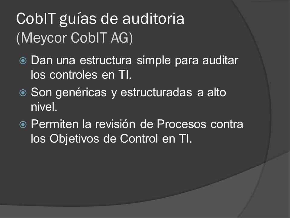 CobIT guías de auditoria (Meycor CobIT AG)