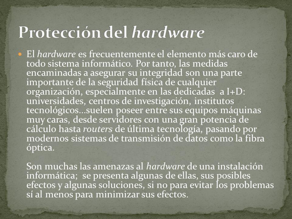 Protección del hardware
