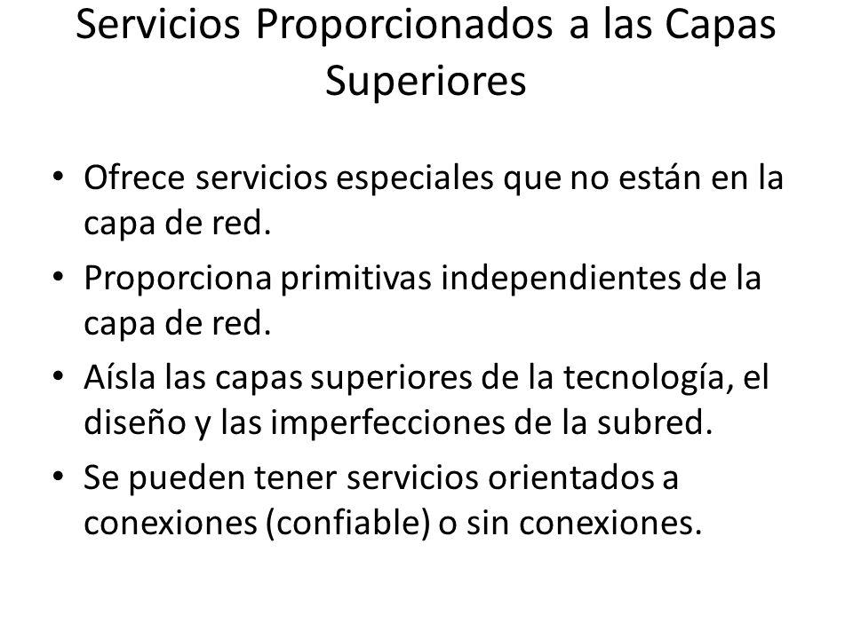 Servicios Proporcionados a las Capas Superiores