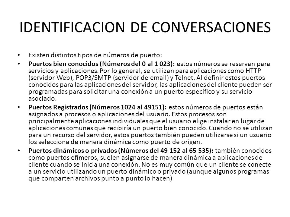 IDENTIFICACION DE CONVERSACIONES