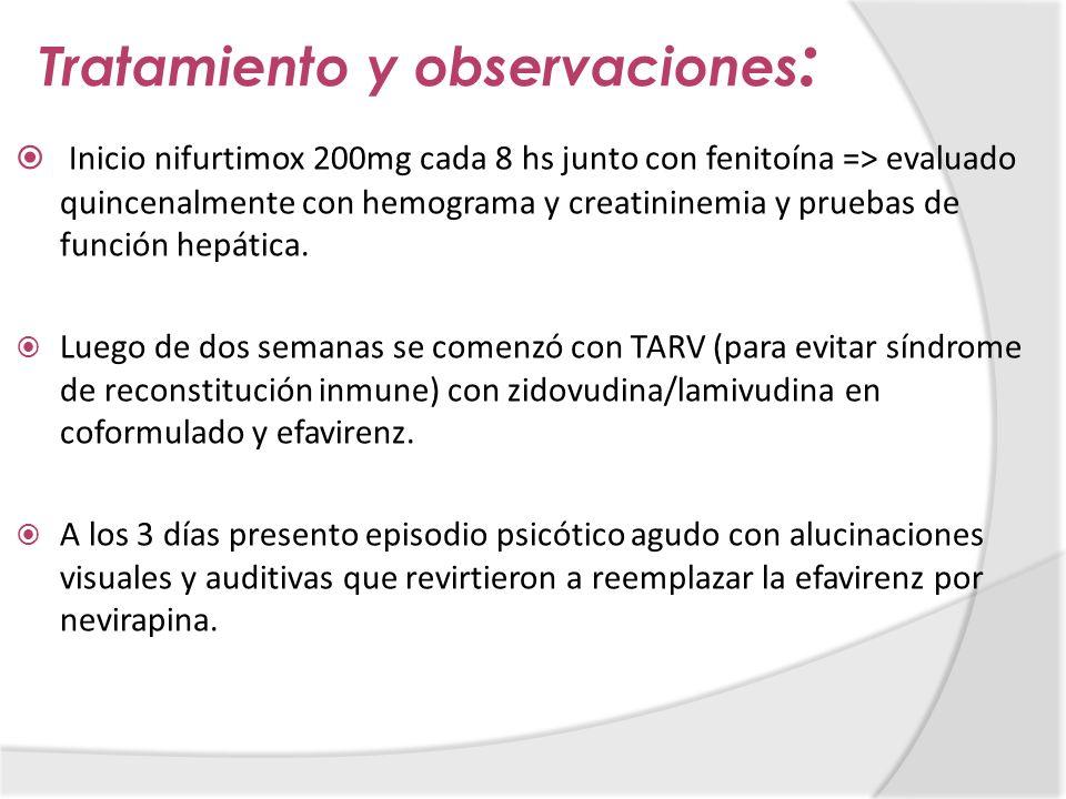 Tratamiento y observaciones: