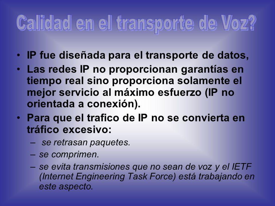 Calidad en el transporte de Voz