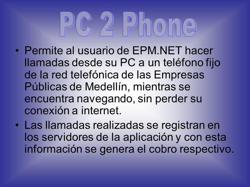 PC 2 Phone