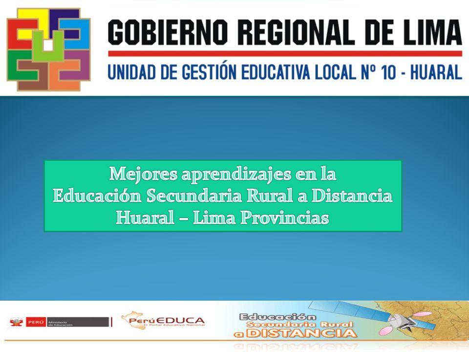 Mejores aprendizajes en la Educación Secundaria Rural a Distancia