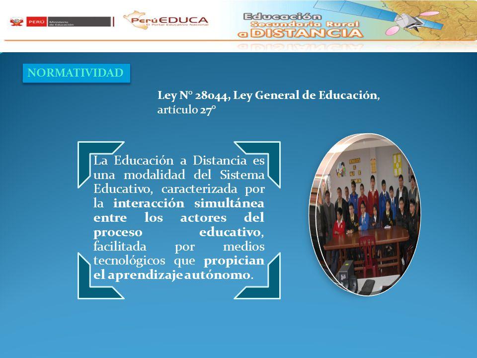 NORMATIVIDAD Ley N° 28044, Ley General de Educación, artículo 27°