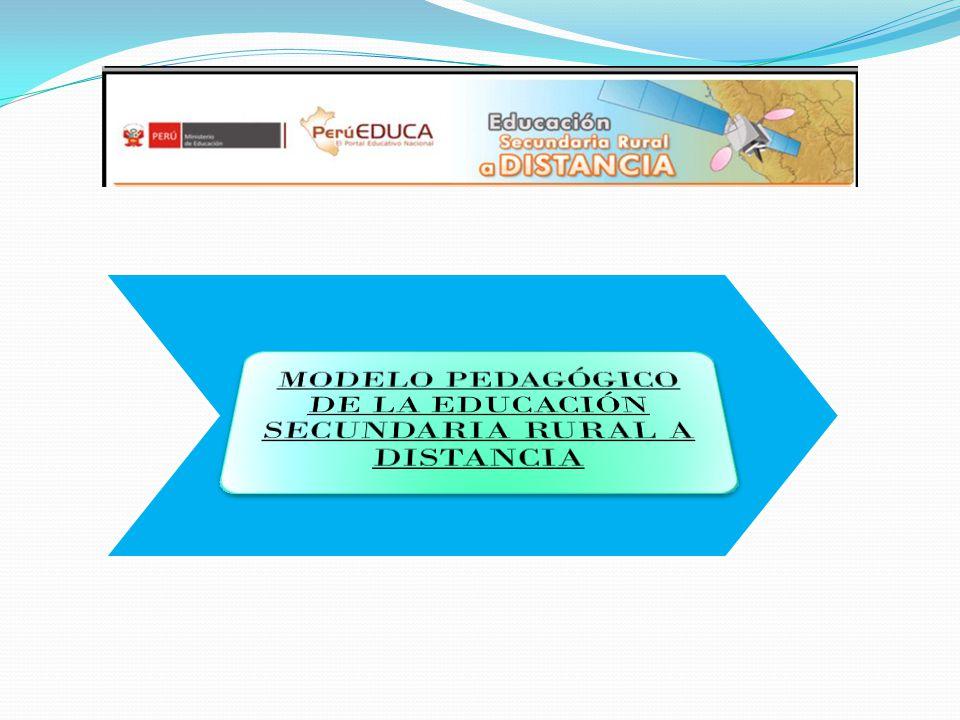 MODELO PEDAGÓGICO DE LA EDUCACIÓN SECUNDARIA RURAL A DISTANCIA