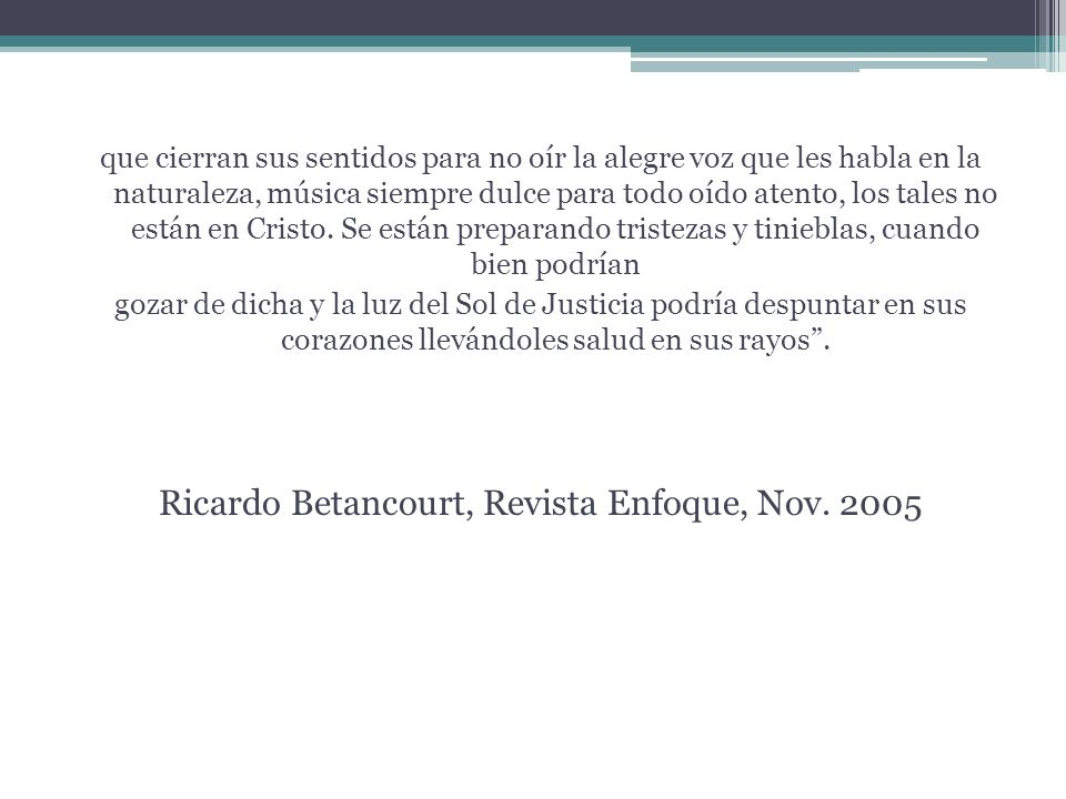 Ricardo Betancourt, Revista Enfoque, Nov. 2005