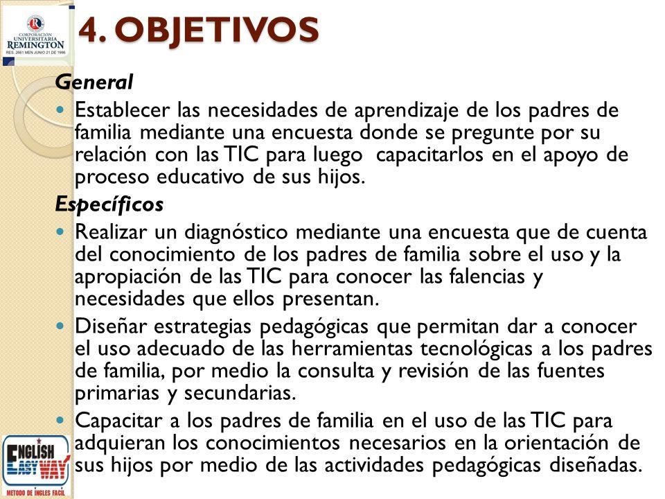4. OBJETIVOS General.