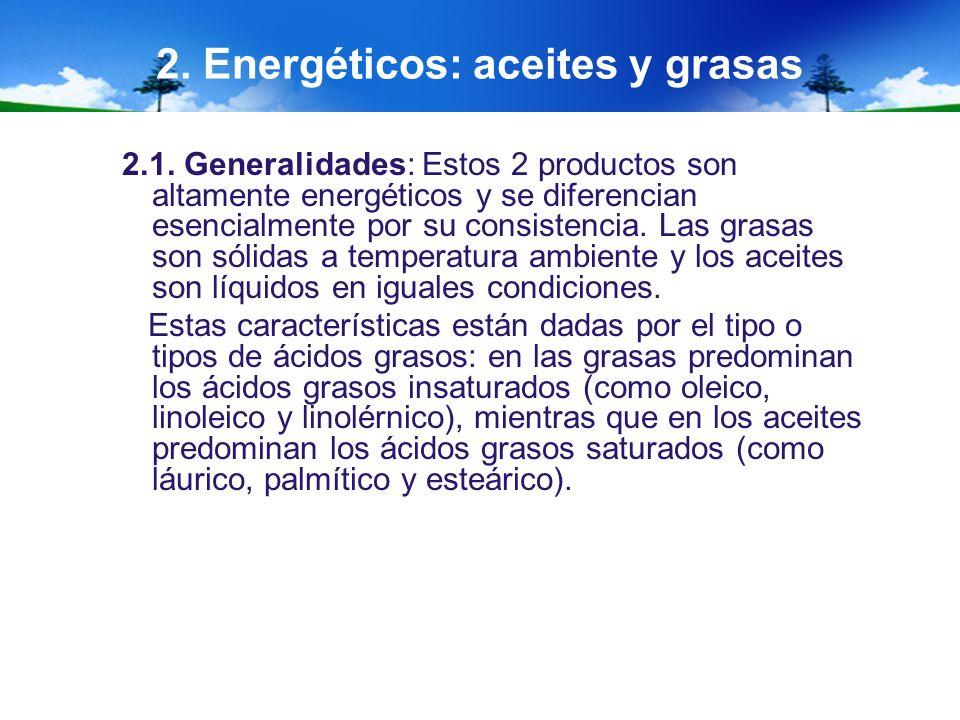 2. Energéticos: aceites y grasas