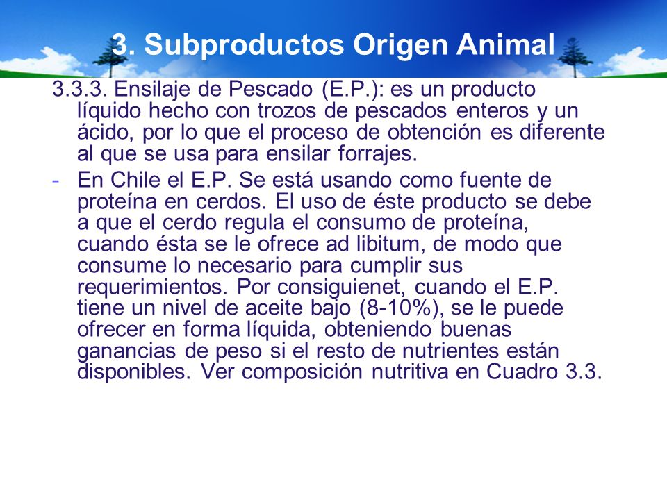 3. Subproductos Origen Animal