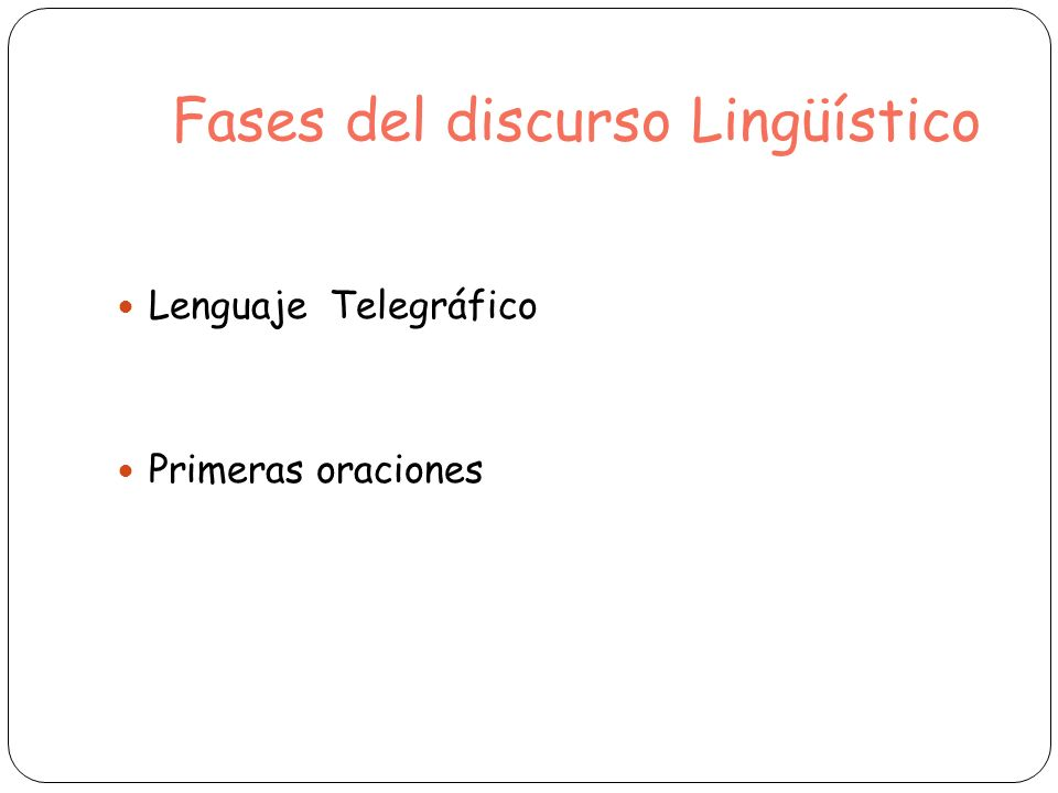 Fases del discurso Lingüístico