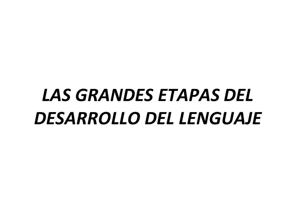 LAS GRANDES ETAPAS DEL DESARROLLO DEL LENGUAJE