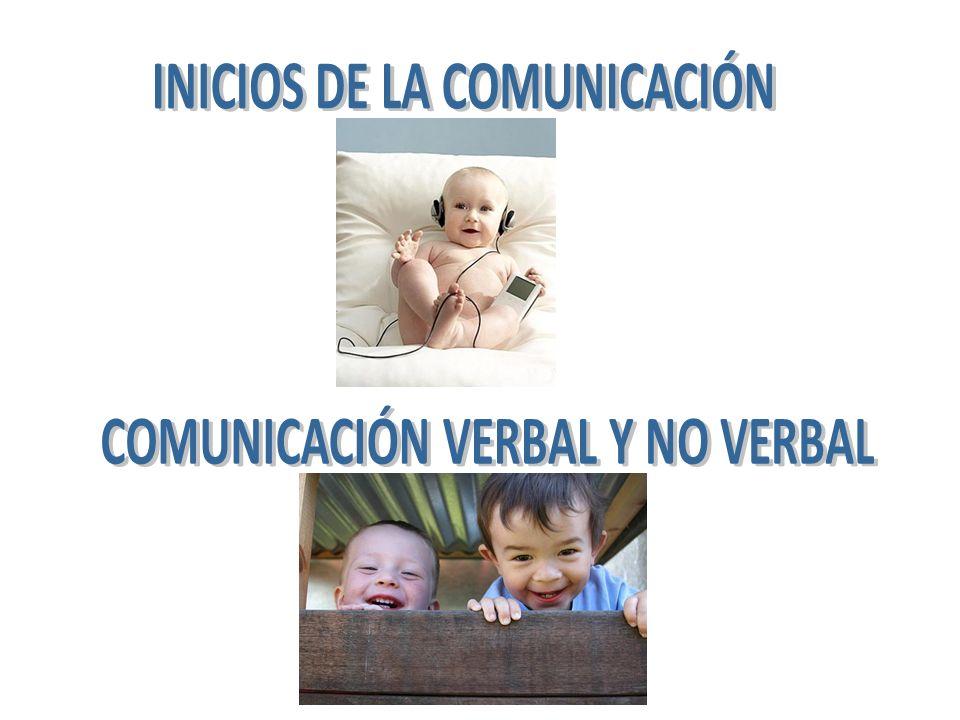 INICIOS DE LA COMUNICACIÓN COMUNICACIÓN VERBAL Y NO VERBAL