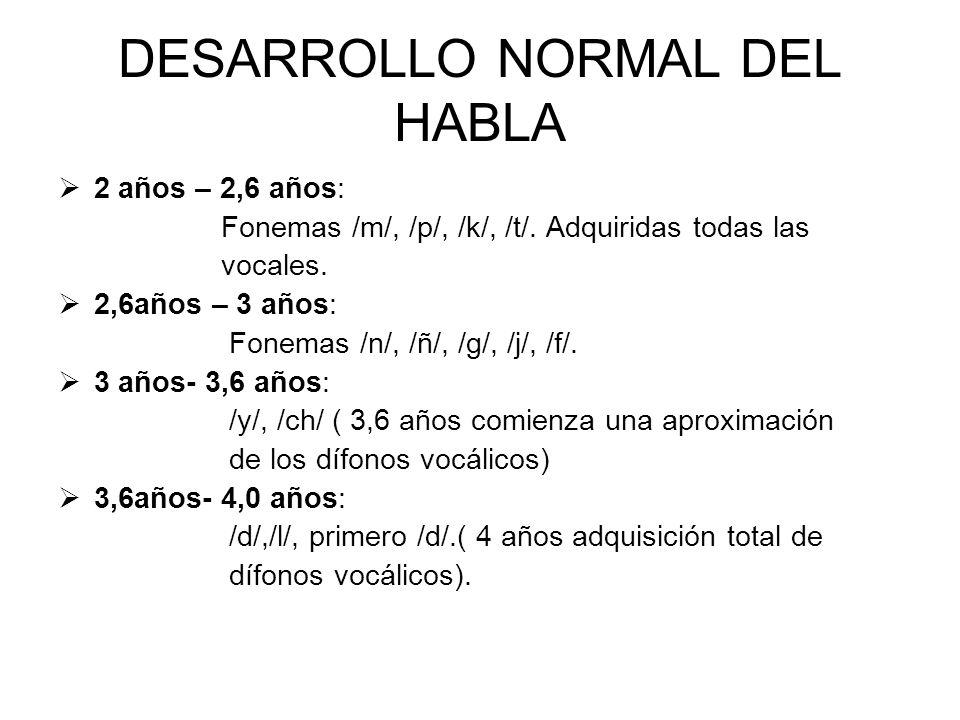 DESARROLLO NORMAL DEL HABLA