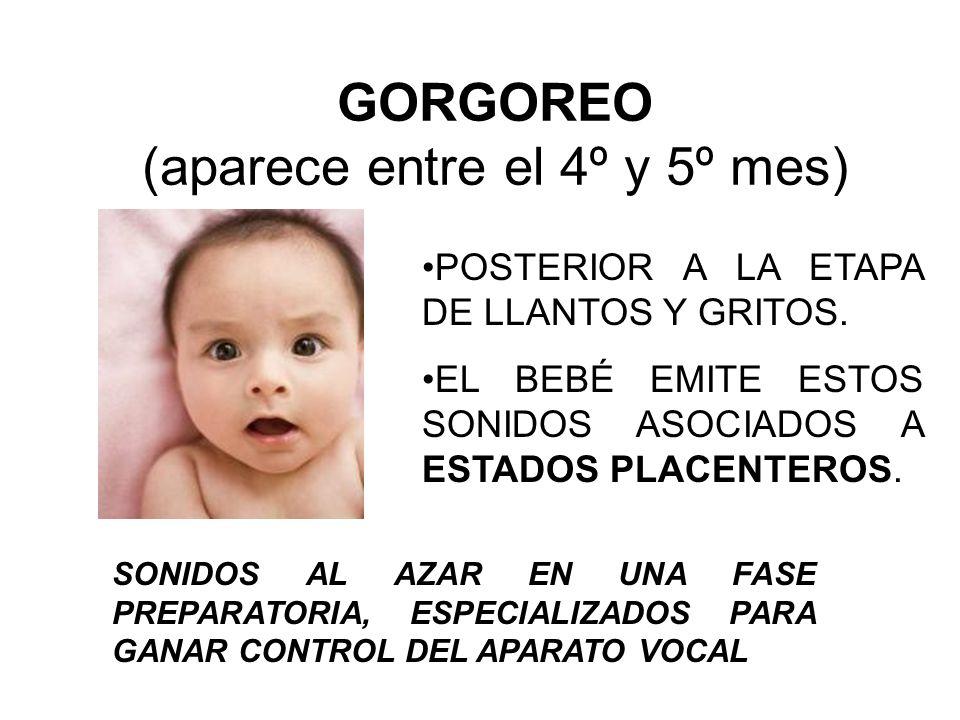 GORGOREO (aparece entre el 4º y 5º mes)