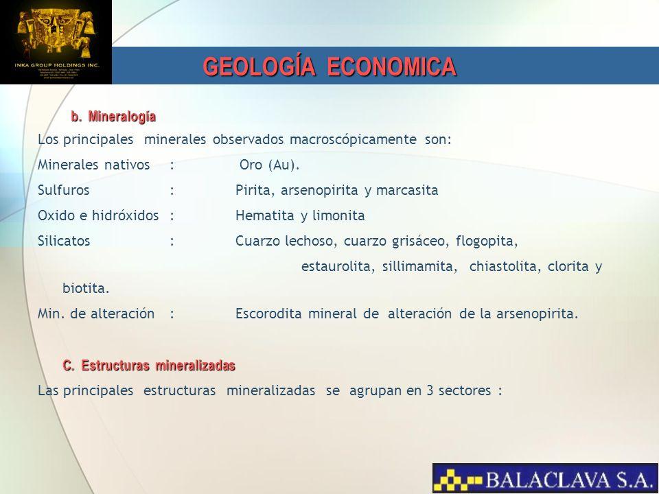 GEOLOGÍA ECONOMICA