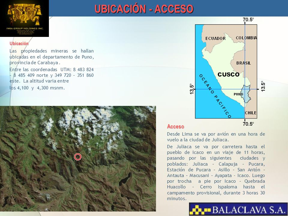 UBICACIÓN - ACCESO Acceso