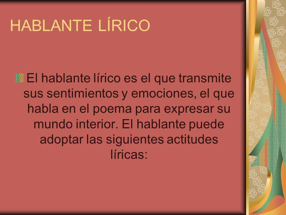 HABLANTE LÍRICO
